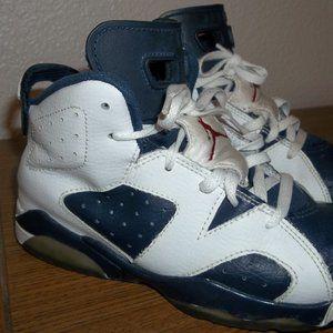 Very Rare Jordan 6 Olympic White/Navy/Red 1Y